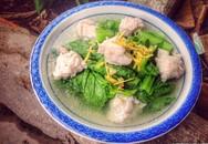 Canh cải xanh nấu chả cá