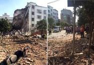 Nhà cửa, đường phố tan nát sau vụ nổ bom ở Trung Quốc
