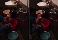 Hà Nội: Osin bóp mồm bé trai, tấp nước thô bạo trong khi tắm gây phẫn nộ