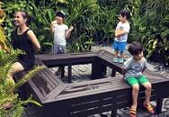 Hình ảnh hạnh phúc của vợ và con MC Phan Anh