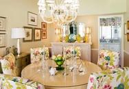 Mê mẩn với những phòng ăn đầy sắc hoa