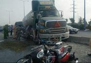 Tai nạn trước cửa ngõ Sài Gòn, 7 xe máy kẹt dưới gầm xe bồn
