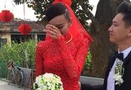 Lê Thúy bật khóc trong lễ rước dâu