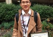 Nam sinh giành giải nhất hội thảo khoa học quốc gia Mỹ