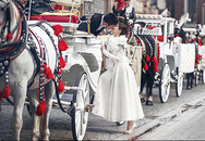 Diễm Trang chụp ảnh cưới cổ tích ở Ba Lan
