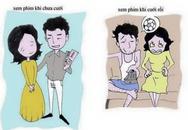 Chùm ảnh sự khác biệt của phụ nữ trước và sau khi kết hôn