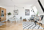 Căn hộ 36m² đơn giản mà đẹp đến bất ngờ với màu đen trắng