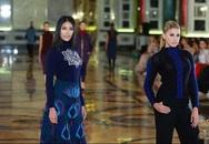 Lan Khuê trình diễn thời trang tại Hoa hậu Thế giới