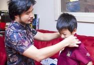 Buổi sáng tất bật của ông bố đại gia Đỗ Minh và các con