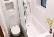 Phòng vệ sinh 3m2 thoải mái xây bồn tắm