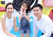 Con gái Lưu Hương Giang làm điệu bên bố mẹ