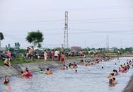 Bãi tắm dài hàng chục km ở ngoại thành Hà Nội