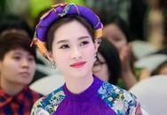 Hoa hậu Đặng Thu Thảo đẹp mê hồn với áo dài làm giám khảo