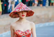 HH Thùy Dung gây tranh cãi vì mặc áo dài bị cho là giống Trung Quốc