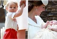 Hoàng tử bé nước Anh xuất hiện cực đáng yêu trong lễ rửa tội của em gái