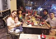 Khánh Thi và con đón Giáng sinh cùng bố mẹ Phan Hiển