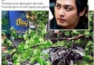 Xe của MC Phan Anh bị cây đè lên sau trận gió lốc chiều qua