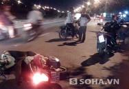 Hai bố con đi xe SH bất tỉnh trên đường sau tai nạn