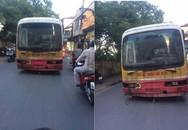 """Sự thật ảnh """"xe buýt ma"""" không người lái trên đường phố Hà Nội"""