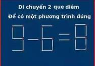 3 cách di chuyển đúng cho bài toán que diêm
