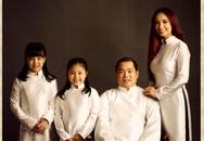 Gia đình Thúy Hạnh đẹp giản dị trong bộ ảnh áo dài theo phong cách xưa