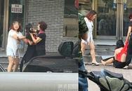Cô gái trẻ bị đánh ghen, cắt tóc giữa phố ở Trung Quốc