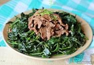 Gỏi rau lang thịt bò - món mới nhiều người thích