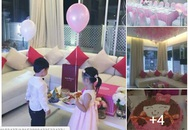 Cận cảnh tiệc sinh nhật màu hồng của con gái Thủy Tiên - Công Vinh