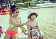 Thúy Nga đưa con gái đi biển Nha Trang