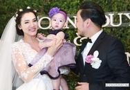 Con gái Trang Nhung lần đầu lộ diện trong tiệc cưới
