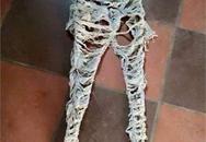 Chiếc quần như giẻ rách được bán với giá trên 1 triệu đồng