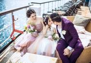 Vợ chồng Minh Tiệp chụp ảnh cưới ngọt ngào cùng con gái