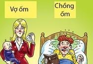 Sự khác biệt thú vị của chồng và vợ khi ốm