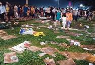 Rác ngập ở trung tâm Sài Gòn sau màn pháo hoa đón năm mới