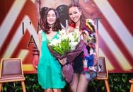 Bạn gái Cường Đô La xinh tươi tặng hoa Maya trong buổi ra mắt album