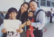 Vợ chồng Kim Hiền tự hào khoe thành tích học tập của con