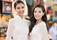 Kỳ Duyên và Hoa hậu Pháp diện áo dài dạo phố
