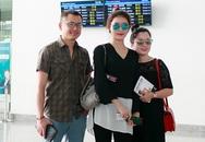 Bố mẹ ra sân bay tiễn Huyền My đi Anh du học