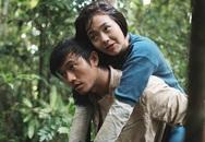 Quý Bình vất vả cõng Minh Hằng vào rừng quay phim