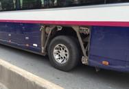 Hi hữu: Xe khách nổ lốp khiến một người đi đường nguy kịch