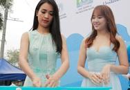Ái Phương, Hari Won tích cực kêu gọi tiết kiệm nước