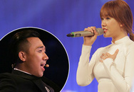 Giám khảo Trấn Thành say sưa hát theo bạn gái Hari Won