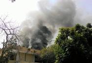 Cháy dữ dội ở Cung Thiếu nhi Hà Nội