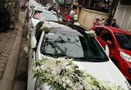 Choáng ngợp vào đoàn xe rước dâu khủng trên phố Hà Nội
