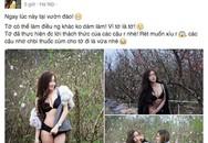 Cô gái mặc bikini chụp vườn đào ngày giá rét nói gì về bộ ảnh gây sốc của mình?