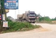 Bắc Ninh: Xe tải trọng lớn tung hoành  trên đê Kênh Vàng