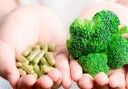 Nguy cơ từ việc dùng thực phẩm chức năng thay rau
