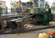 Xe khoan cọc nhồi đổ, kéo sập đường dây cáp giữa Sài Gòn