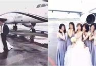 Đám cưới xa hoa rước dâu bằng chuyên cơ gây sốc