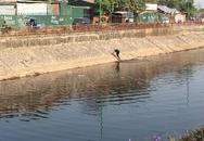 Hà Nội: Bị truy đuổi, nam thanh niên lao mình xuống dòng sông thối
